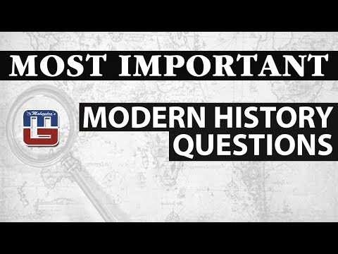 MOST IMPORTANT MODERN HISTORY QUESTIONS | GENERAL STUDIES | SSC SPECIAL