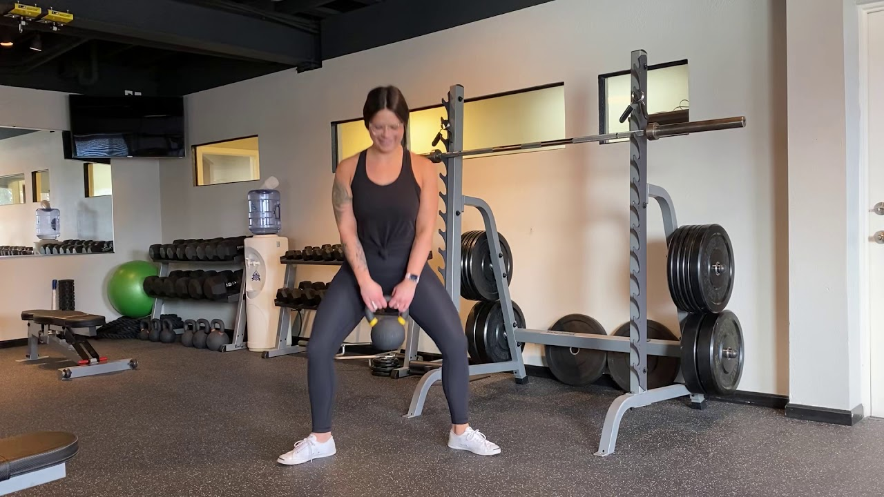 Elevated KB Sumo Squats - YouTube