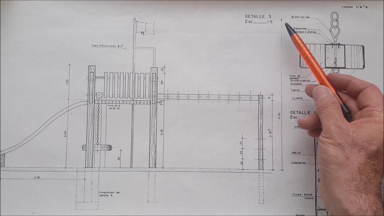 Planos de detalles arquitect nicos tutoriales de for Plano de un vivero forestal
