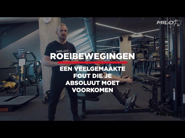 Techniek Video: maak deze fout niet bij roeibewegingen.
