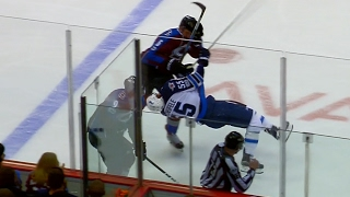 Tempers flare after Zadorov lays massive hit on Scheifele