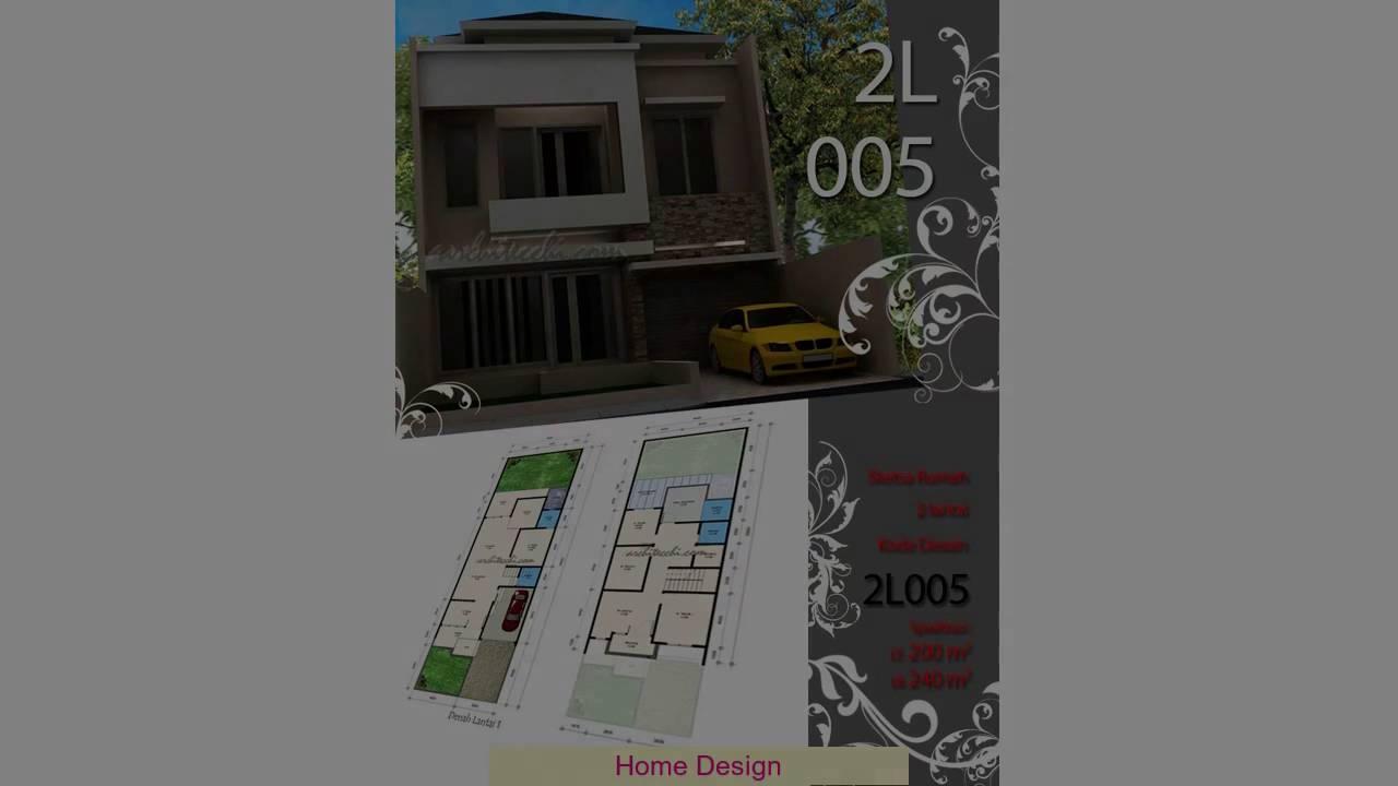 desain rumah lebar 4 meter youtube. Black Bedroom Furniture Sets. Home Design Ideas