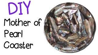 DIY Mother of Pearl Coaster Another Coaster Friday Craft Klatch