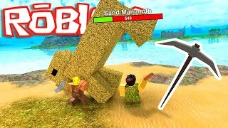 WE END THE MOST AMAZING CREATURE AND ASEDITE STRENGTHS 😂😂 - ROBLOX BOOGA BOOGA WITH SARINHA