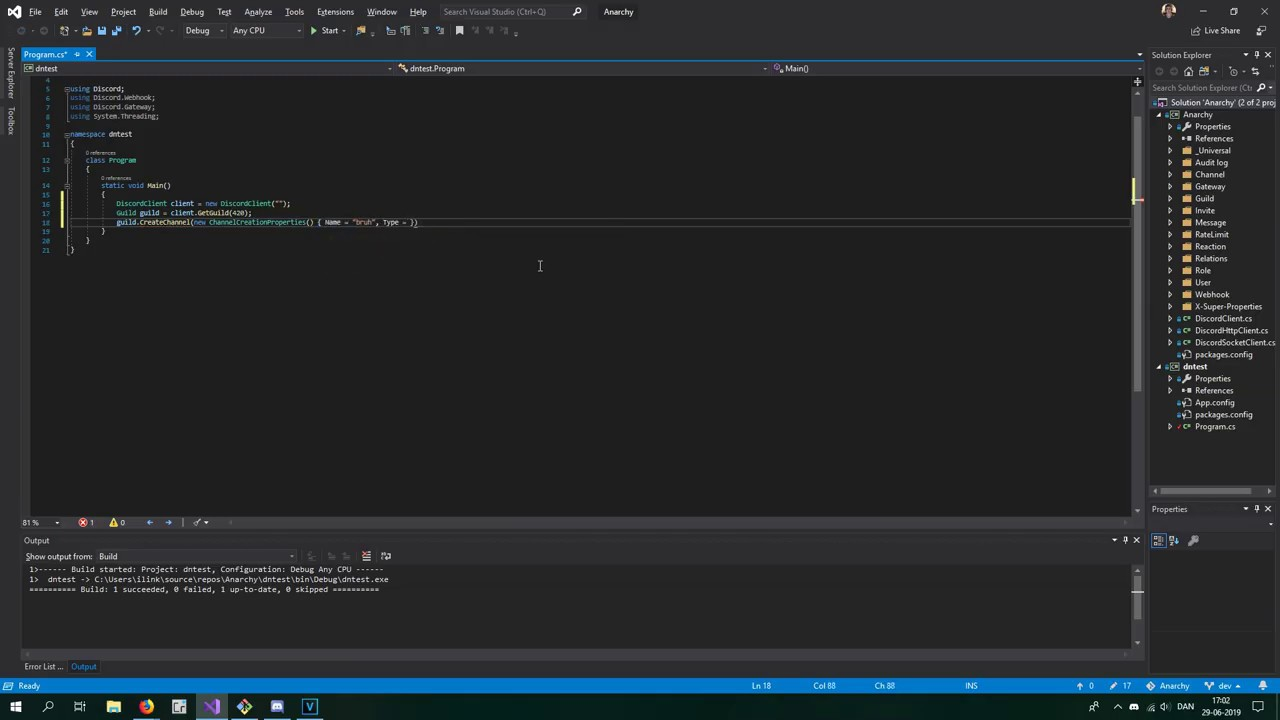so i made a Discord API wrapper
