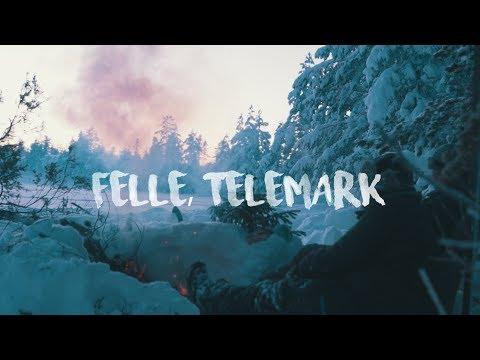 Cold winter camping in Norwegian woods