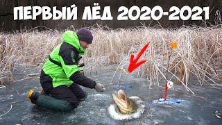 ПЕРВЫЙ ЛЁД 2020 на РЕКЕ ЩУКА на ЖЕРЛИЦЫ РВЁТ СНАСТИ по ПЕРВОМУ ЛЬДУ 2020