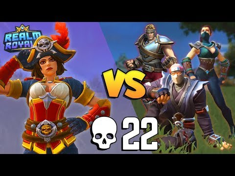 Hunter Solo vs SQUADS 22 KILLS (again!) | Realm Royale