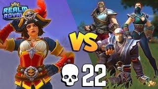 Hunter Solo vs SQUADS 22 KILLS (again!) Realm Royale