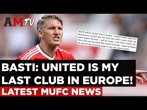 Schweinsteiger: United Is My Last Club In Europe! | Latest Manchester United News