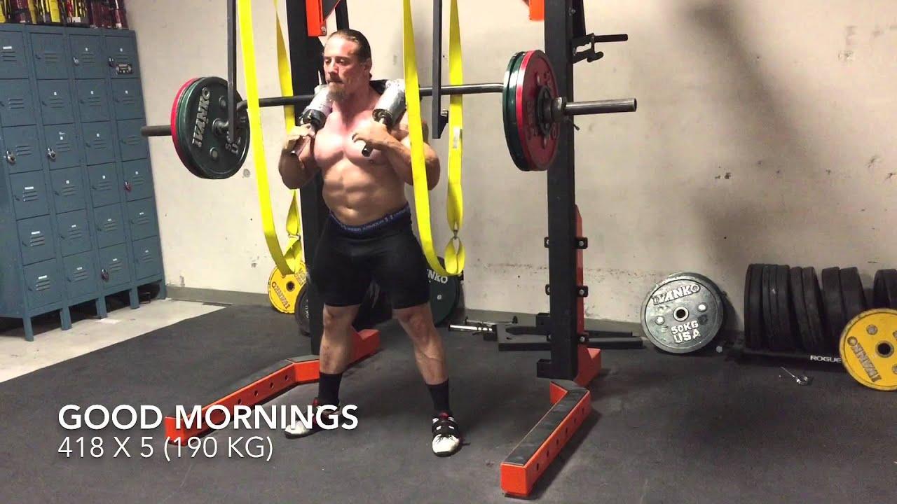 Dan green squats and good mornings for Homemade safety squat bar
