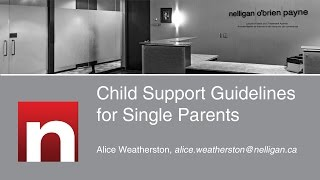 Child Support Guidelines for Single Parents
