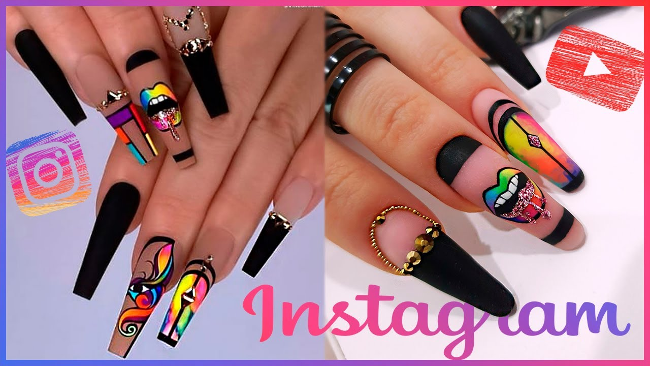 Instagram Inspired Nails | Rainbow Lips | Russian Efile Manicure