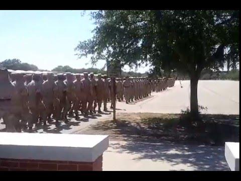 US MARINES! Boot Camp, practice graduation.