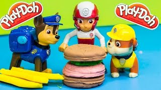 PAW PATROL Nickelodeon Paw Patrol PLAY DOH Burger a Paw Patrol Play Doh Parody