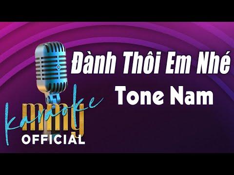 Đành Thôi Em Nhé (Karaoke Tone Nam) | Hát với MMG Band