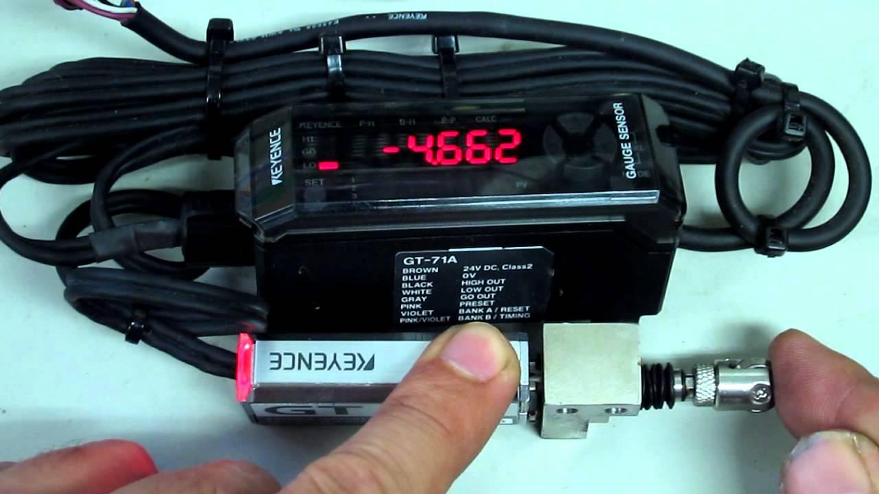 keyence gt 71a gt h10 in general contact type digital sensor rh youtube com