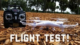 Syma X5C Quadcopter 4CH Built-in HD Camera 2.4G $90.00 - Flight Test!