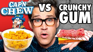Chewy Crunchy Food vs. Cruฑchy Chewy Food Taste Test
