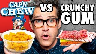 Chewy Crunchy Food vs. Crunchy Chewy Food Taste Test
