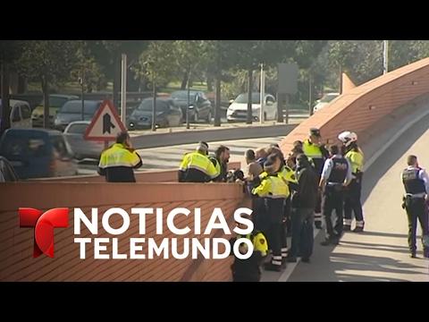 Detenido a tiros conductor de camión con butano robado en Barcelona | Noticias | Noticias Telemundo