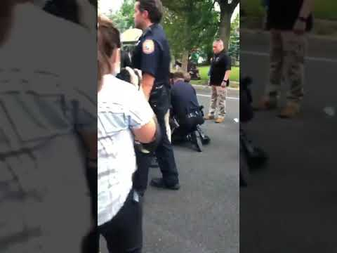 Videos were released of police arresting otherwise peaceful protesters in East Meadow
