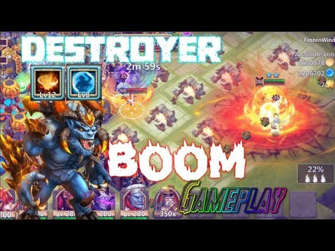 Destroyer Skill 12 Smashing Gameplay WOW - Castle Clash