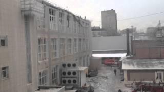 14/12/2012 Крупный пожар в Торговом Центре в Москве!