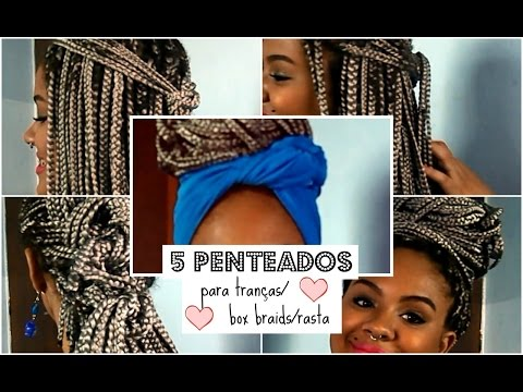 5 penteados fáceis para tranças/box braids/rasta thumbnail