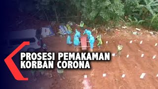Pantauan Udara Prosesi Pemakaman Jenazah Pasien Corona