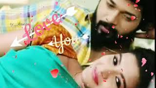 Sembaruthi serial Aadhi Parvathi💖Uruginen Urugine cut song whatsapp status Heart Touching Love song