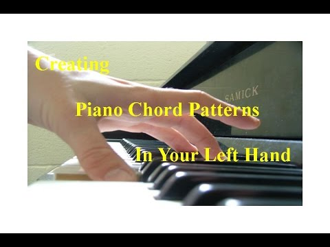 creating piano chord patterns in your left hand youtube. Black Bedroom Furniture Sets. Home Design Ideas