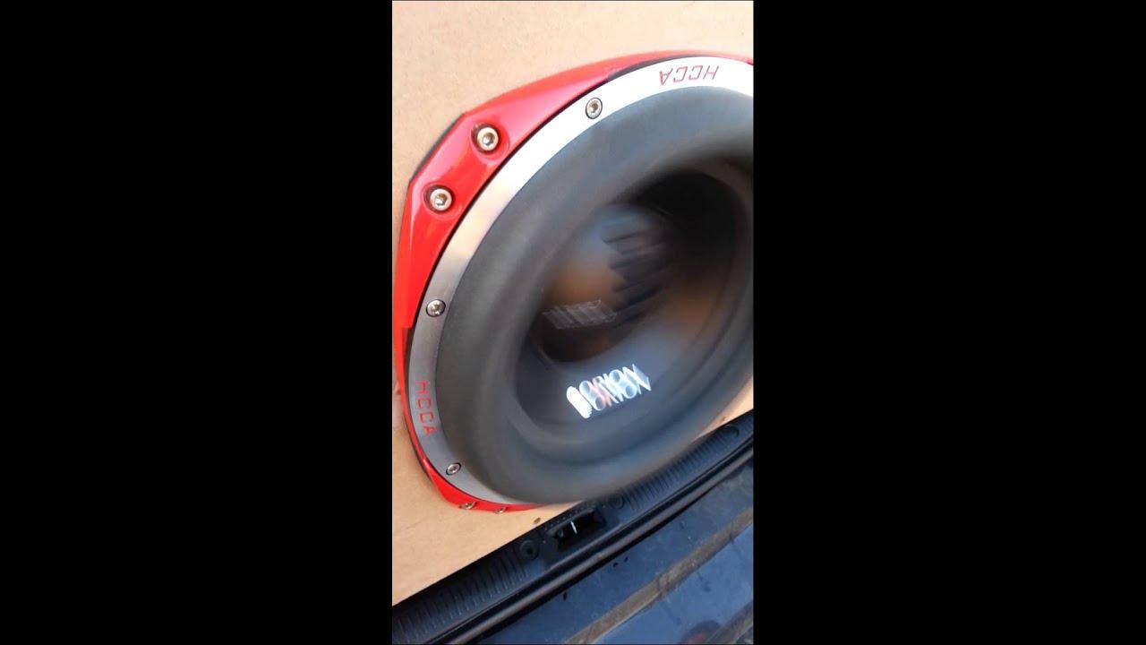 Orion 5000 watt amp pushing orion hcca sub - YouTube