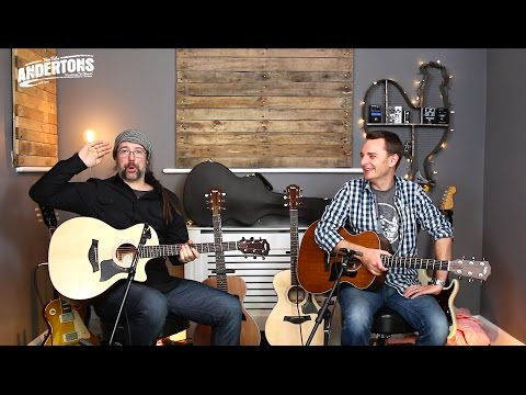 Mahogany Tops vs Spruce Tops  Taylor 300 Series Acoustic Shoot Out!