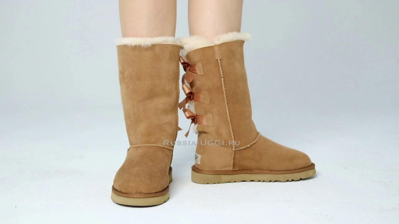 6d4d507800f UGG Bailey Bow Tall Chestnut