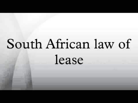 South African law of lease