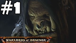 Warlords of Draenor Walkthrough Part 1 Gameplay World of Warcraft Level 90-91 Let