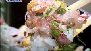 日本100年食堂 そば処橋本 アジ丼