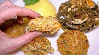 Вкусный и Быстрый ОБЕД - РЫБНЫЕ КОТЛЕТЫ, Салат с морской капустой и Мамалыга!