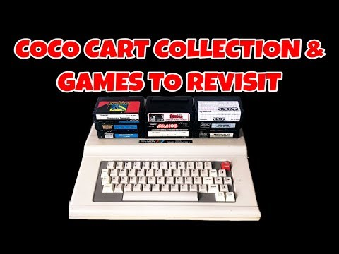 Tandy Color Computer Cart Collection And Games To Revisit