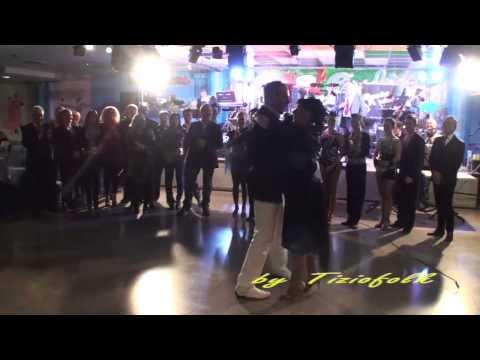 DAVID PACINI E SERENA ballano un valzer al 5° compleanno dell'ORCHESTRA DAVID PACINI all'Orchidea FC   29 12 2011