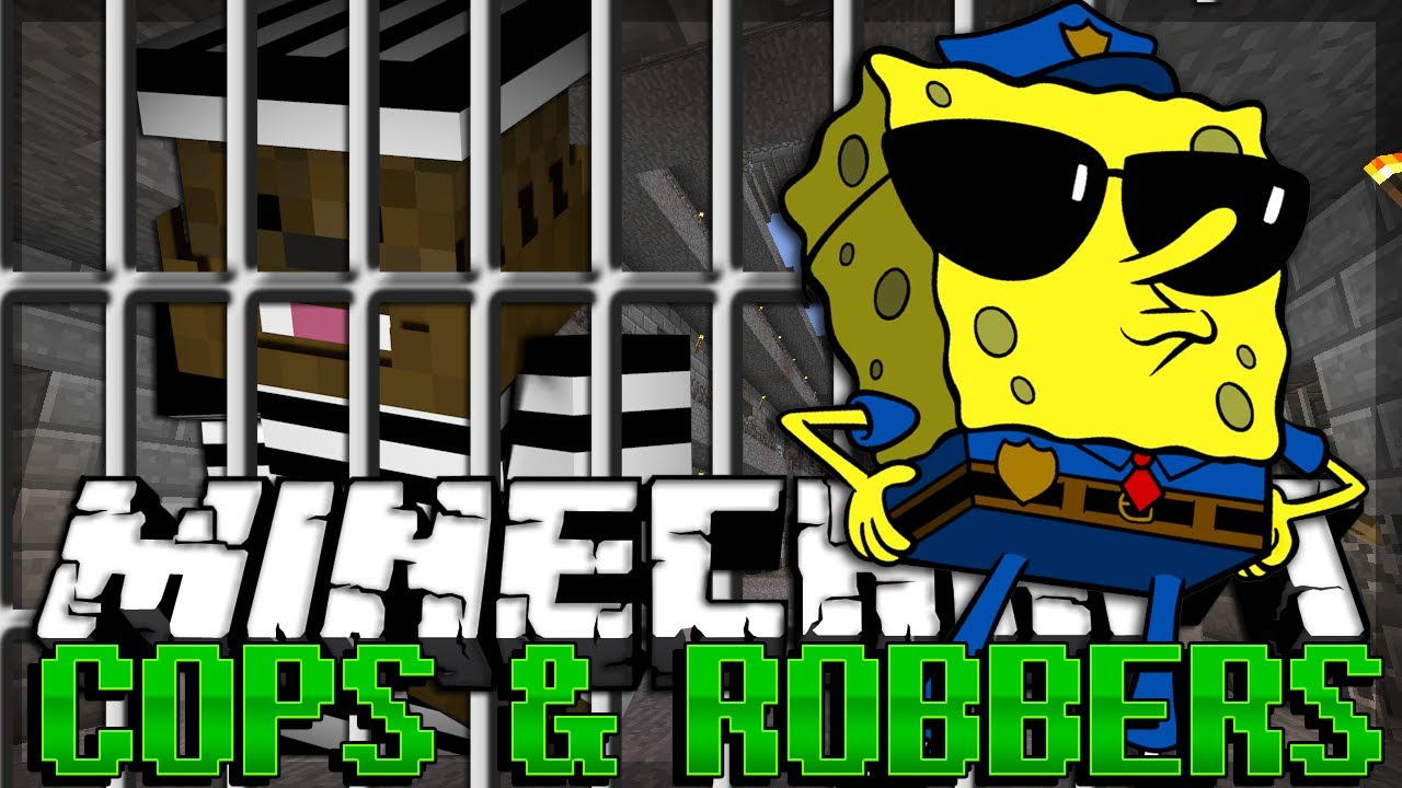 Minecraft SPONGEBOB Modded Cops and Robbers | JeromeASF
