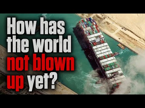 How to Destroy 10% of Global Trade in 7 Minutes   Suez Canal Blocked by Ever Given