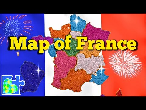 MAP Of FRANCE || 18 Regions Of France ||  Carte De France
