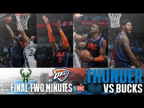 Milwaukee Bucks vs Oklahoma City Thunder: Last 2 Minutes UNCUT | January 27th, 2019