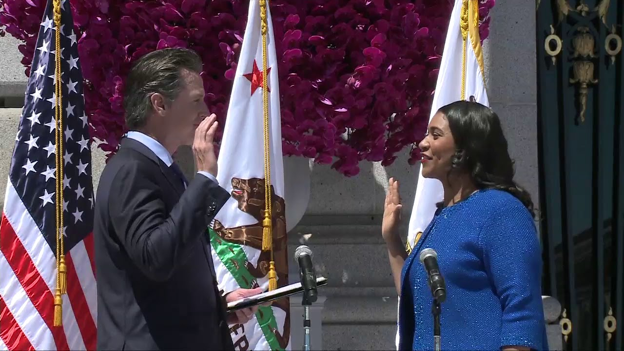 London Breed sworn in as San Francisco Mayor. First Black Women to be mayor of the city