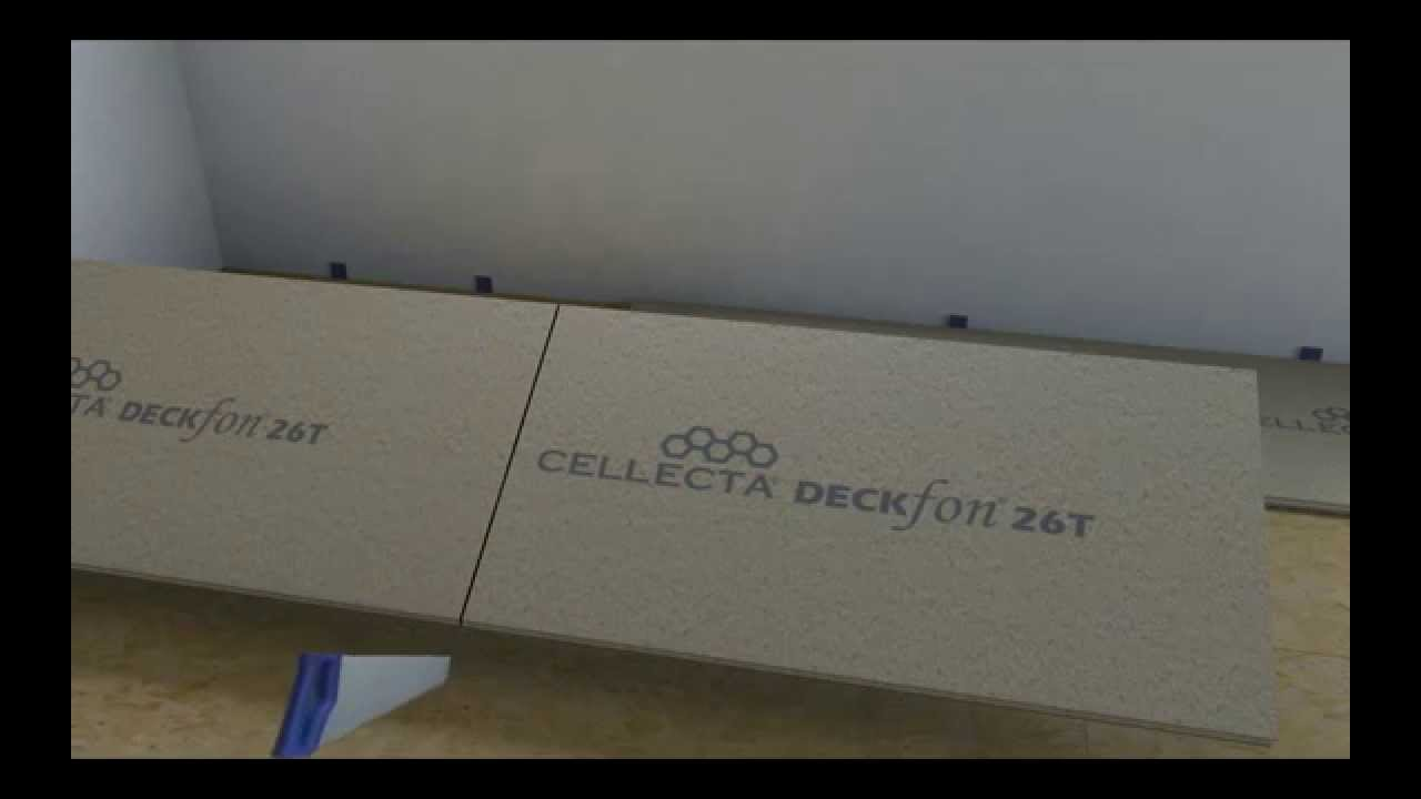 How To Install DECKfon T Sound Proofing Acoustic Overlay Boards - Soundproof floor boards