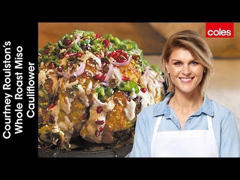 Courtney Roulston's Whole Roast Miso Cauliflower