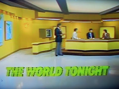 WTVJ / MIAMI - The World Tonight/ 1981 - Jim Brosemer, Tony