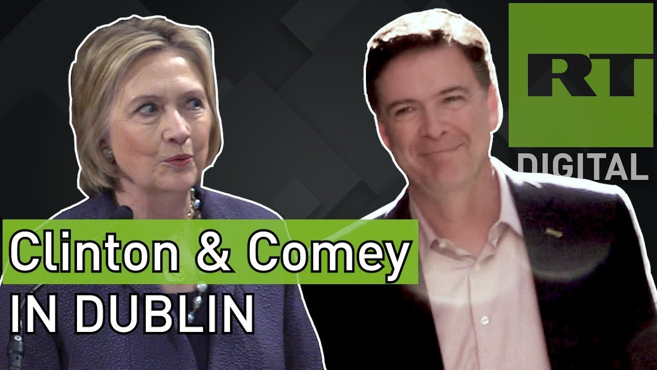 CLINTON & COMEY within 1km of each other on DUBLIN trip